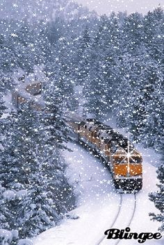 Falling Snow Winter Scene what a beautiful gif ❄ Winter Gif, Winter Images, Winter Love, Winter Snow, Winter Christmas, Christmas Scenery, Winter Scenery, Christmas Background, Winter Pictures