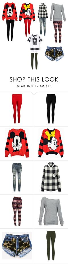 """""""casual outfits"""" by crashin4fashion ❤ liked on Polyvore featuring Hey Jo, Max Studio, Disney, Polo Ralph Lauren, Uniqlo, Alloy Apparel and MM6 Maison Margiela"""