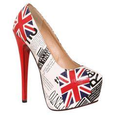 Union Jack Platform High Heel Shoe