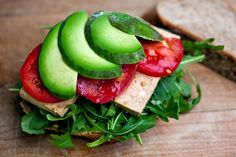 Marinated Tofu Sandwich with Asian Greens