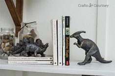 DIY Faux Bronze Dinosaur Project in a simple bookend Boys Room Decor, Boy Room, Kids Room, Dinosaur Projects, Dinosaur Bedroom, Room Themes, Diy For Kids, Diy Home Decor, Diy Projects