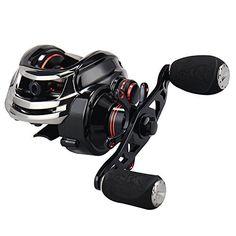 Comprar carrete de mosca KastKing Royale Legend / Whitemax Low Profile baitcasting Fishing Reel  11 1 rodamientos blindados 17.5 lb de fibra de carbono (Left-Handed(Black))