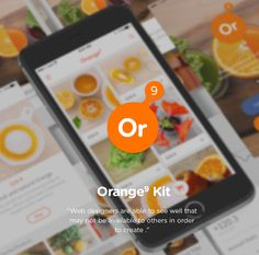 Unique free UI PSDs & resources for Designers - Uix One: Orange9 Free Mobile App ui PSD