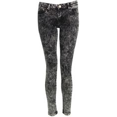 Georgiana Acid Wash Styled Jeans at Pop Couture ($37) ❤ liked on Polyvore