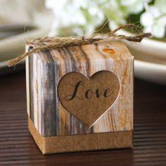 Rustic Heart Favor Boxes