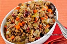 Paleo Stuffing. Sarah Fragoso has the yummiest recipes (not just for a paleo recipe).