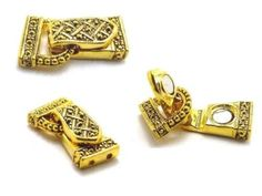 A shipment came in!  Finally!! Fold over gold Magnetic clasps closures marcasite look1926gld - Mobile Boutique