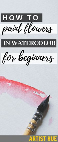 ideas for beginners How to Paint Watercolor Flowers for Beginners How to draw watercolour flowers Learn Watercolor Painting, Watercolor Beginner, Watercolor Paintings For Beginners, Watercolor Projects, Beginner Painting, Easy Watercolor, Watercolor Cards, Watercolor Landscape, Watercolour Step By Step