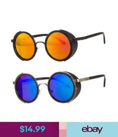 8509bf7404c Sunglasses   Fashion Eyewear Vintage Retro Mirror Round Sun Glasses Goggles  Steampunk Punk Sunglasses  ebay  Fashion