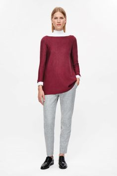 COS image 11 of Contrast lined A-line jumper in Cherry