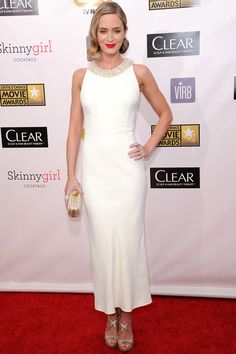 Blanco invernal - Emily Blunt - Critics Choice Awards
