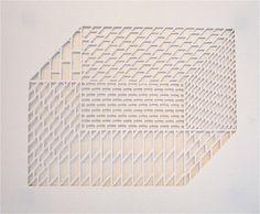 Edward Jeffrey, Kriksciun 1. White cardboard. Cut out pattern.  Delicate. Geometric.