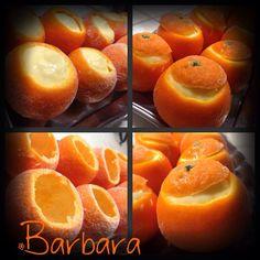 Mandarini ripieni di mousse al mandarino