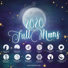 Full moons 2020 We're missing a cold moon on October, we'll add it soon. Moon Spells, Magick Spells, Witchcraft, Moon Hunters, Sturgeon Moon, Cold Moon, Full Moon Ritual, Moon Witch, Pink Moon