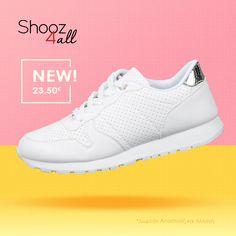 Γυναικεία sneakers σε λευκό χρώμα. #shooz4all #gynaikeia #sneakers