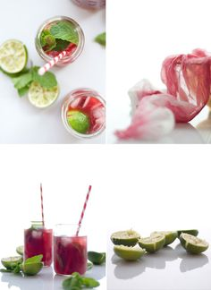 Raspberry & lime iced tea!