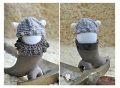 10 Men's Free #Crochet Patterns for Father's Day: Crochet Viking Hat
