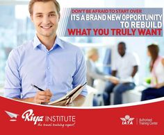 Don't be afraid to start over. It's a brand new opportunity to rebuild what you truly want. Enroll now and be successful.  For more information call +91 9562700121 or to register visit  http://riyainstitute.com/application-form/ #travelandtourism #iata