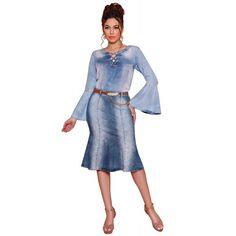 Saia Jeans Midi Correntes - Titanium