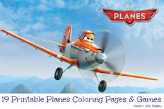 19 Printable Planes Coloring Pages and Games. Click on link for all printable. http://farmerswiferambles.com/2014/04/printable-planes-coloring-pages/