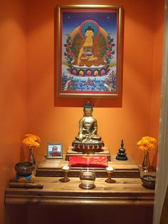 Home Buddhist shrine #meditation #altar #buddhism