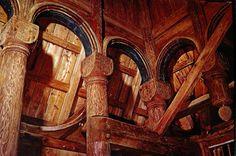Interior of Urnes stave church