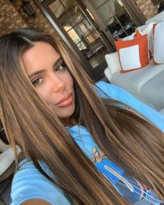 Brielle Biermann Says She's 'Completely Different' After Hair Change and Lip Fillers Removal - Aesthetic&Lip Filler&Hair Transplant 2020 Brown Hair Balayage, Brown Blonde Hair, Brown Hair With Highlights, Light Brown Hair, Hair Color Balayage, Light Hair, Brown Hair Colors, Brunette Hair, Ombre Hair
