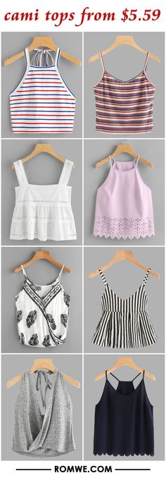 cami tops from $5.59