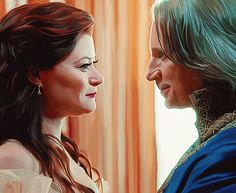 """Care To Dance, Mrs. Gold? - RumBelle art - 4.1 """"A Tale of Two Sisters"""" - digital painting - by LicieOIC on deviantART"""