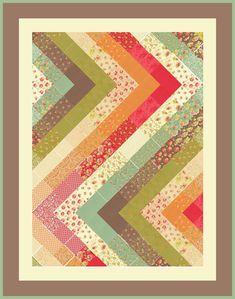 Cute charm quilt layout idea.