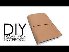 """Hello!! This video will show you how to make your very own Traveler's Notebook/Midori! Supplies Needed: Scissors Crop-a-dile 8.5"""" X 11"""" leather Fabric eyelet..."""