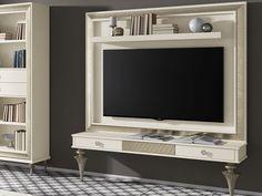Meuble TV. Mod. GA1156-1136G Backdrop Tv, Framed Tv, Panel, Flat Screen, Windows, Design, Tile, Doors, Lighting