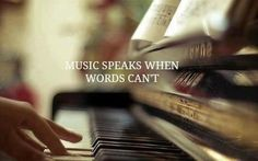 music speaks when words cant