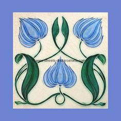 "From ""Art Nouveau Tiles with Style"" by Robert Smith, art-nouveau-16, Streets of Barcalona"
