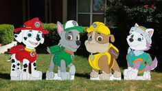 ONE 2ft Paw Patrol Cut outs Chase MarshalSkye by supercutecutouts