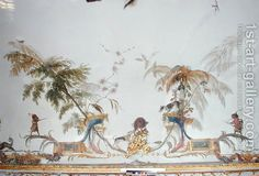 Christophe Huet:The Boar Hunt detail from the ceiling of La Grande Singerie  I love the dog in the tree.