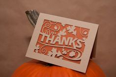 Thanksgiving Card Thanksgiving Greeting Give by starflycreations