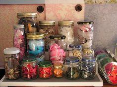 #Craft Storage in Jars