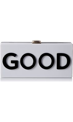 MILLY Good/Bad Box Clutch, Black/White, One Size Best Price