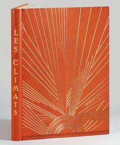 NOAILLES (Comtesse de)  Les Climats. Paris, Société du Livre contemporain, 1924.  Binding:  R. Devauchelle