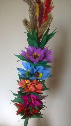 Rękodzieło na co dzień: Palma wielkanocna, instruktaż wykonania Diy And Crafts, Paper, Spring, Facebook, Palms, Flowers, Easter