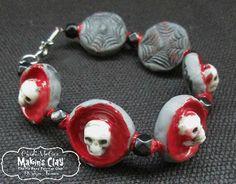 Makin's Clay® Blog: Ghoulish Gothic Skull Bracelet & Earrings by Cindi...