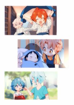 Tenn and Riku/ Iori and Mitsuki/ Tamaki and Mia Cute siblings ♡ Cute Anime Boy, Anime Guys, Manga Anime, Anime Art, Anime Siblings, Anime Child, Kawaii Chibi, Kawaii Anime, Familia Anime