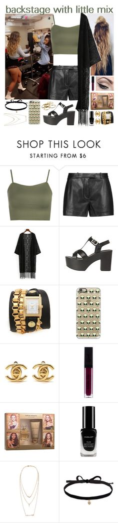 """""""backstage with little mix"""" by roxouu ❤ liked on Polyvore featuring WearAll, Emilio Pucci, Mehron, La Mer, Casetify, Chanel, Inglot, Aéropostale, Joomi Lim and Kendra Scott"""