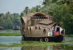 Kerala, India,  houseboats