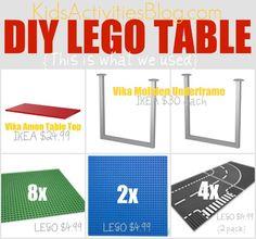 DIY Lego Table parts