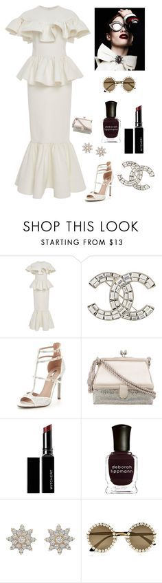 """""""White Elegance"""" by kotnourka ❤ liked on Polyvore featuring Christian Siriano, Chanel, Carvela, Judith Leiber, Witchery, Deborah Lippmann and Dolce&Gabbana"""