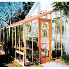 This Sonoma ft Redwood Lean-To Greenhouse can fit easily against the side of a house or garage and utilizes their heat to maintain the perfect growing temperature for your plants! Greenhouse Shed, Small Greenhouse, Greenhouse Gardening, Shed Plans, Planting Flowers, Outdoor Living, How To Plan, Building, Garage