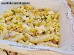 Penne with ricotta, turkey and basil