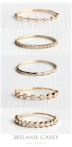 Stacked Wedding Bands, Stackable Wedding Bands, Wedding Rings Simple, Unique Wedding Bands, Unique Rings, Unique Weddings, Simple Rings, Wedding Band Styles, Stackable Bands